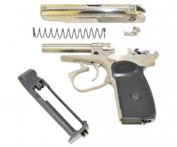 Пневматический пистолет МР-654К-24 (ПМ, никель затвор)